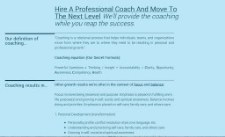 Coach and succeed - Playground