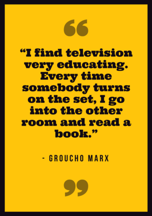 Groucho Marx Reading Quote Poster.png