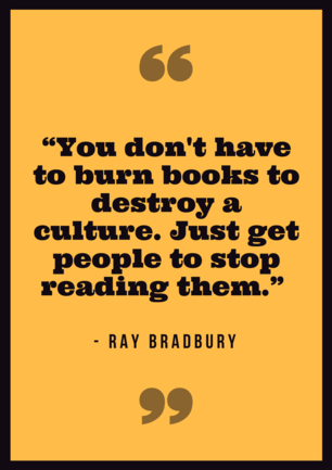 Ray Bradbury Reading Quote Poster.png